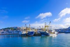 Czujność trawler Brixham Devon obraz stock