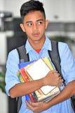 Czujny Przystojny Filipiński Męski uczeń zdjęcie royalty free