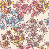 Czułych małych kwiatów bezszwowy wzór Zdjęcie Royalty Free