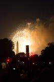 Czwarty Lipów fajerwerki w washington dc Obrazy Royalty Free