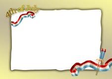 czwarty Lipca 04 szablon Zdjęcia Royalty Free