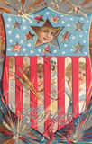 czwarty Lipca karty pocztę Obraz Royalty Free