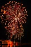 czwarty Lipowie fajerwerki zdjęcie stock