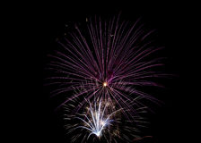 czwarty Lipowie fajerwerki Zdjęcia Royalty Free