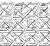 Czworościan budów struktury wektor ilustracji