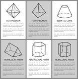 Czworościan i ośmiościan, Pentagon graniastosłupa nakreślenie royalty ilustracja
