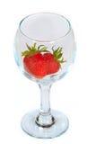 czyścić świeżej szklanej truskawki Fotografia Stock