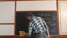 Czyścić blackboard zbiory wideo