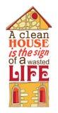 czyścić dom Obrazy Stock