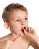 czyścić dzieciaków zęby Zdjęcia Royalty Free