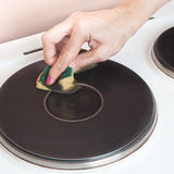czyścić elektryczna kuchenka Obrazy Royalty Free