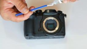 Czyścić kamery matrycę pył na matrycy brud na czujniku czujnika cleaning światłoczuła matryca zbiory wideo