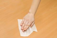 czyścić kithchen mokrego wytarcie Zdjęcie Royalty Free