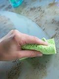 czyścić odpierającego brudu szklany tłuszcz daleko Zdjęcie Stock