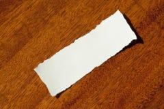 czyścić papierowego świstek Fotografia Stock
