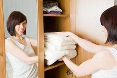 czyścić ręczniki Zdjęcia Stock