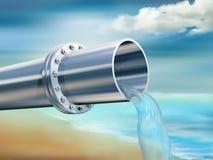 czyścić wodę pitną Zdjęcie Stock