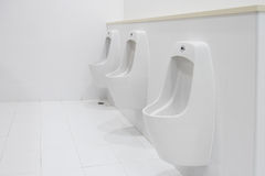 Czyści łazienkę publicznie Zdjęcia Stock