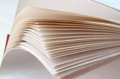 Czyści copybook prześcieradła, stary gęsty notatnik zdjęcie royalty free