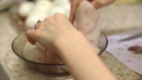 Czyści gotowana kałamarnica zdjęcie wideo
