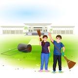 Czyści India misję royalty ilustracja