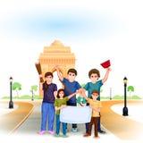 Czyści India misję ilustracja wektor