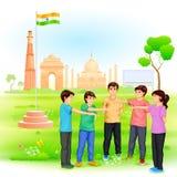 Czyści India misję ilustracji
