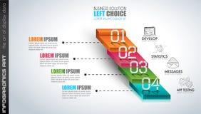 Czyści Infographic układu szablon dla dane i informaci analizy Zdjęcie Royalty Free