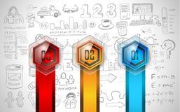 Czyści Infographic układu szablon dla dane i informaci analizy Zdjęcie Stock