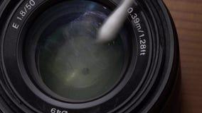 Czyści kamery obiektyw zdjęcie wideo