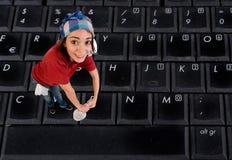 Czyści klawiaturę Fotografia Stock