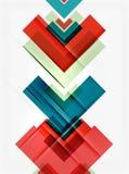 Czyści kolorowego niezwykłego geometrycznego deseniowego projekt ilustracja wektor