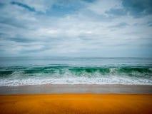 Czyści opustoszałą plażę na brzeg Atlantyk Liberia Obraz Stock