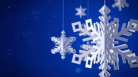 Czyści płatki śniegu 3d na czerwonym tle ilustracji