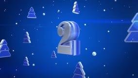 Czyści płatki śniegu 3d na czerwonym tle ilustracja wektor