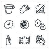Czyści usługowe ikony ustawiać również zwrócić corel ilustracji wektora royalty ilustracja