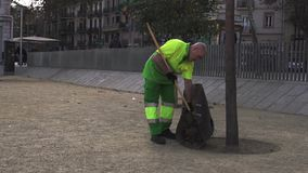 Czyści zakresy droga od jesień liści zbiory wideo