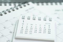 Czyści bielu kalendarzowego biznesowego ostatecznego termin, czasu omijanie, roku plann Zdjęcia Stock