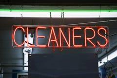 czyściciele neonowi Obrazy Royalty Free