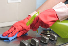 czyścić benzynowy inox Zdjęcie Royalty Free
