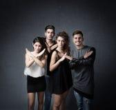 Czynnik x dla wykwalifikowanych przyjaciół fotografia stock