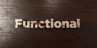 Czynnościowy - grungy drewniany nagłówek na klonie - 3D odpłacający się królewskość bezpłatny akcyjny wizerunek ilustracji