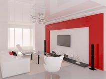 Czynnościowy nowożytny żywy pokój ilustracja wektor