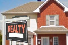 czynsz w domu Znak Zdjęcie Royalty Free