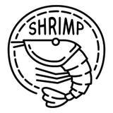 Czyrak krewetkowa ikona, konturu styl royalty ilustracja