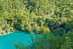 Czysta natura Plitvice jezior park narodowy Fotografia Stock