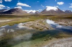Czysta rzeka w Arabel dolinie. Tien shan, Kirghizia zdjęcia stock