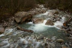 Czysta woda halna rzeka Zdjęcia Stock