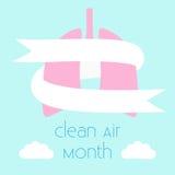 Czyste powietrze miesiąc ilustracja wektor