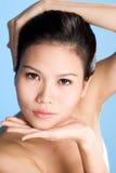 czyste twarz kobiety świeże młode Fotografia Stock